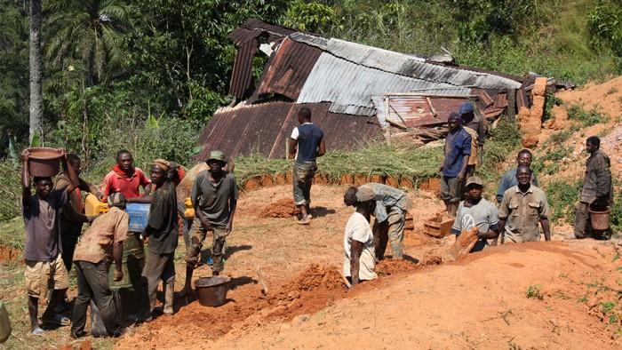 Chantier de construction de briques