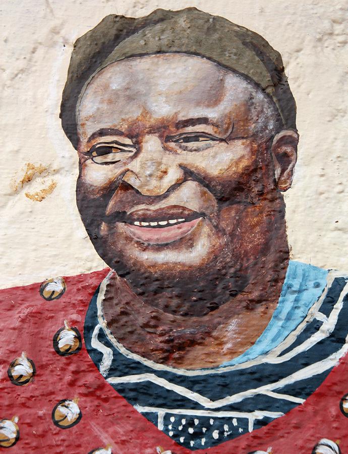 Sa Majesté Kamga David, fresque de Kuete Miterand