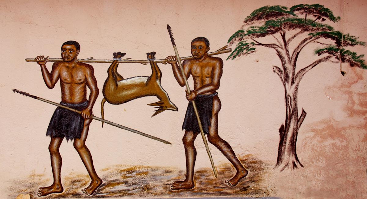 Fresque de Kuete Miterand